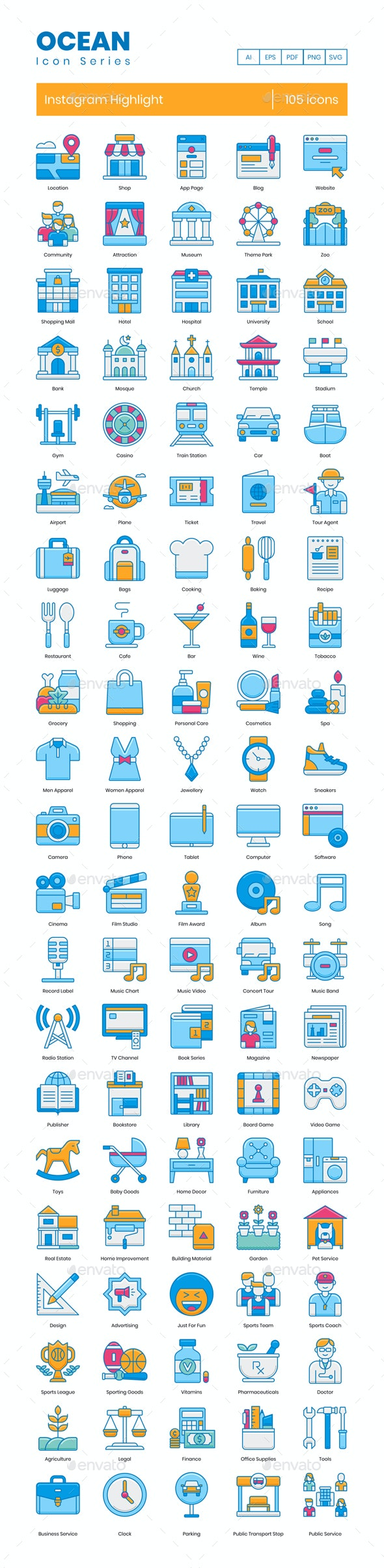 Instagram Highlight Icons - Icons