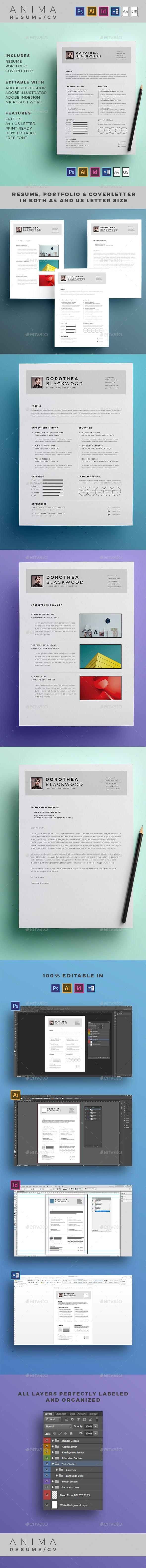 Anima Resume / CV - Resumes Stationery