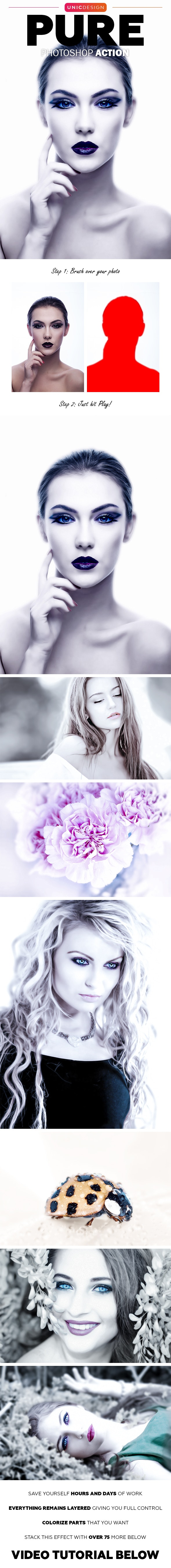 Pure Photoshop Action - Photo Effects Actions