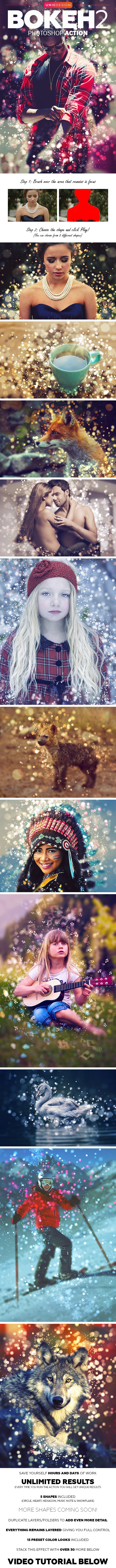 Bokeh 2 Photoshop Action - Photo Effects Actions