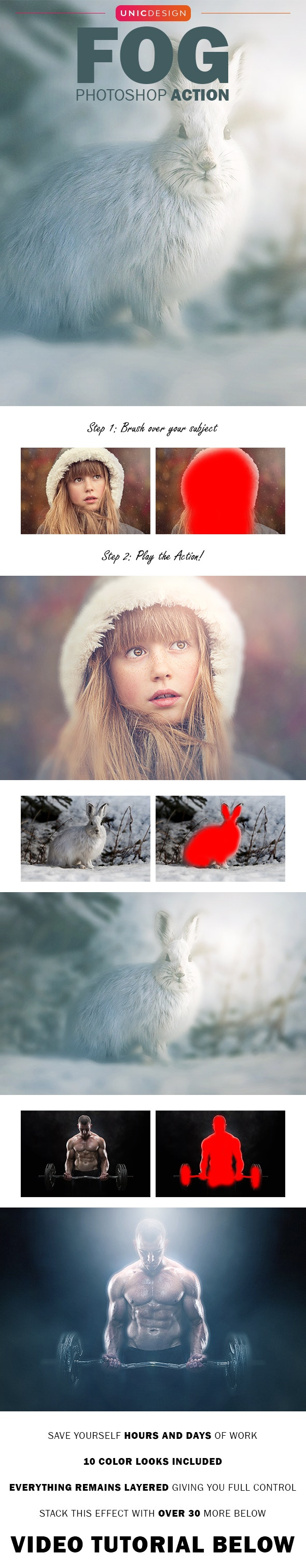 Fog Photoshop Action - Photo Effects Actions
