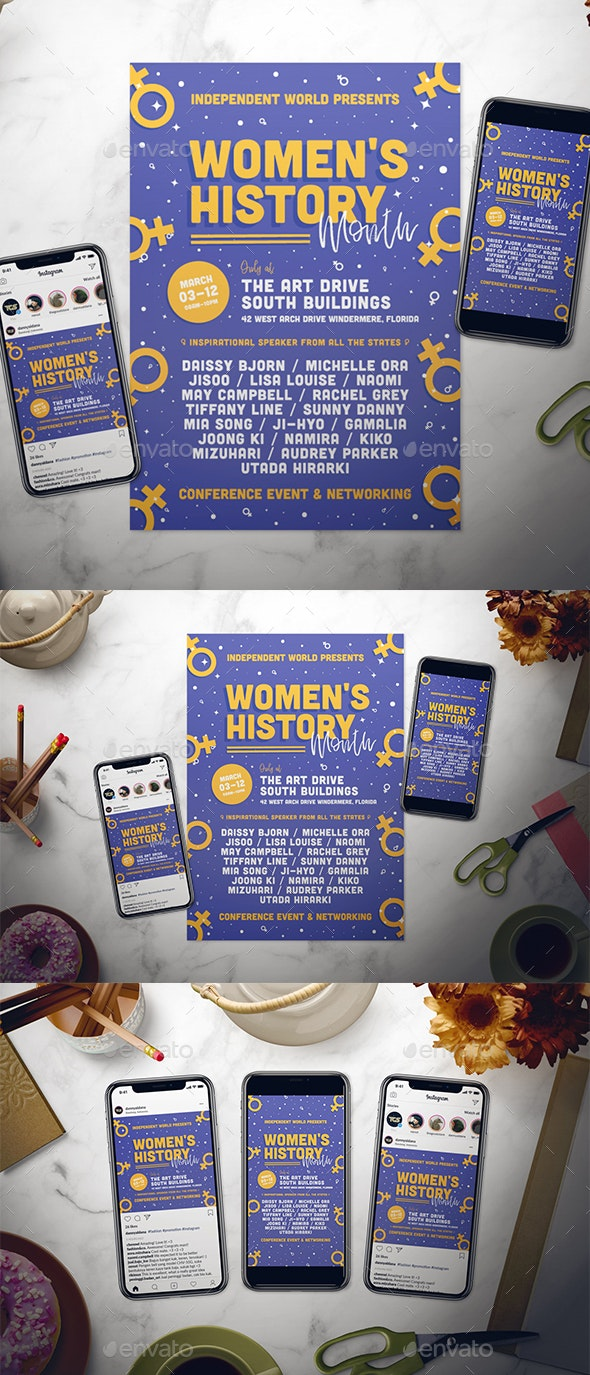 Women's History Month Flyer Set - Events Flyers
