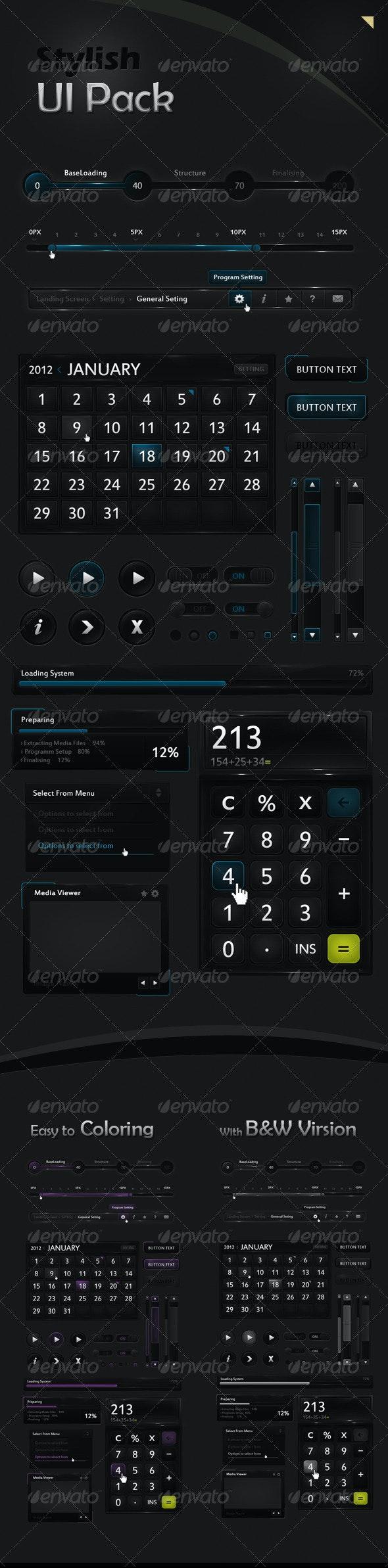 Stylish UI Pack - User Interfaces Web Elements
