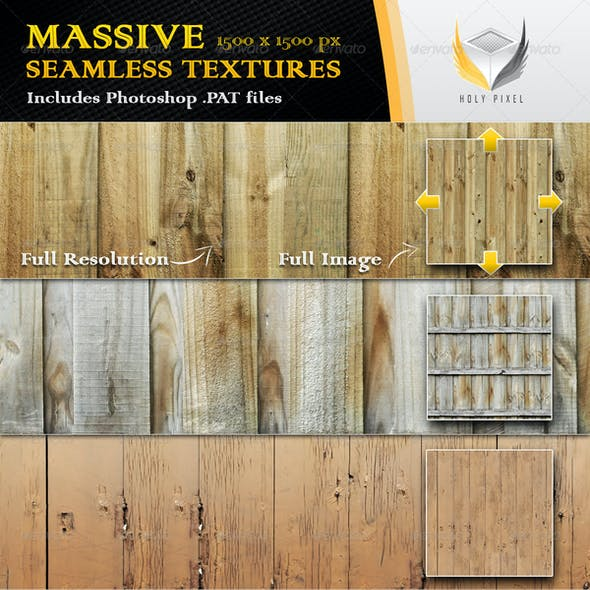 10 Seamless Wooden Fence Textures