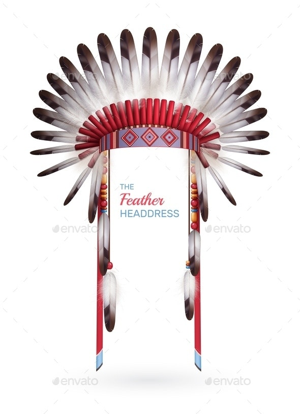 Traditional Indian Feather Headdress - Miscellaneous Vectors