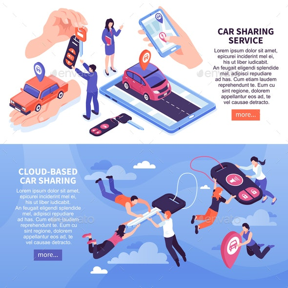 Car Sharing Banners - Industries Business