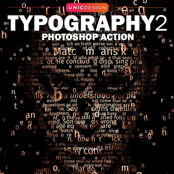 Typography 2 Photoshop Action