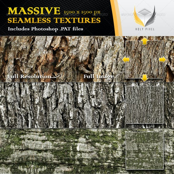 10 Seamless Rough Bark Textures