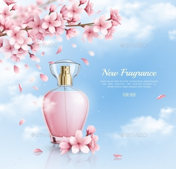 Sakura Fragrance Realistic Background - Flowers & Plants Nature