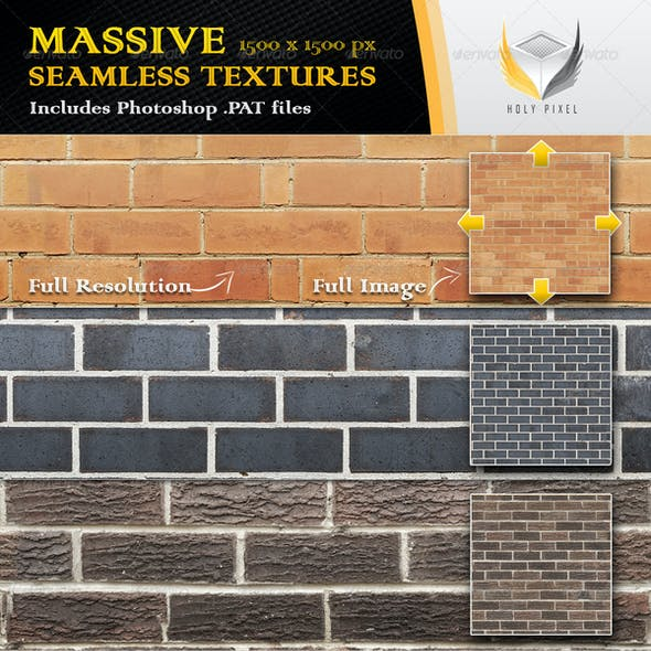 10 Seamless Clean Brick Textures