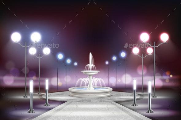Street Lights Realistic Composition - Miscellaneous Vectors