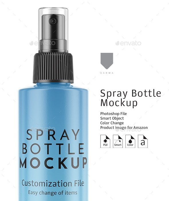 Spray Bottle Mockup - Product Mock-Ups Graphics