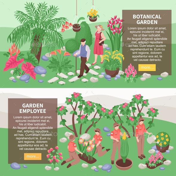 Botanical Garden Horizontal Banners - Flowers & Plants Nature