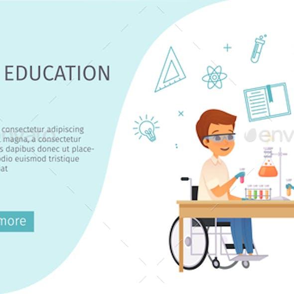 Inclusion Inclusive Education Cartoon Banner