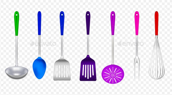 Cooking Tools Realistic Set - Man-made Objects Objects