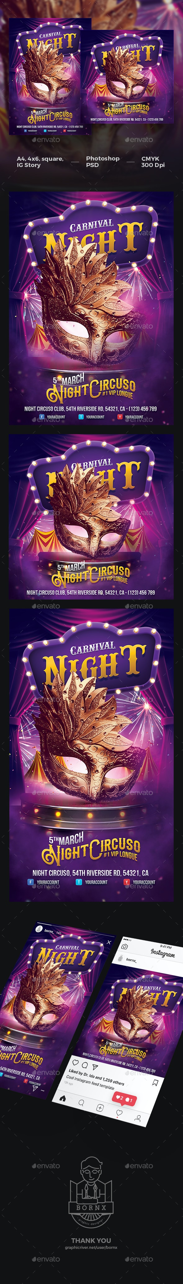 Mardi Gras Carnival Flyer - Events Flyers