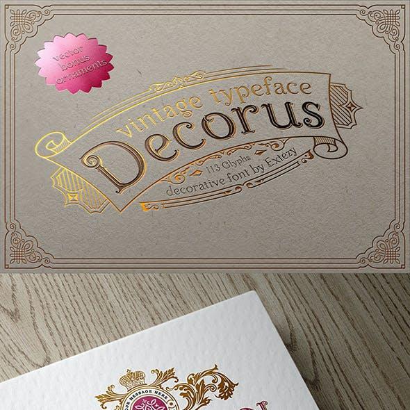 Decorus - Layered Font & Ornaments