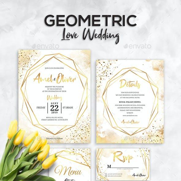 Geometric Wedding Set