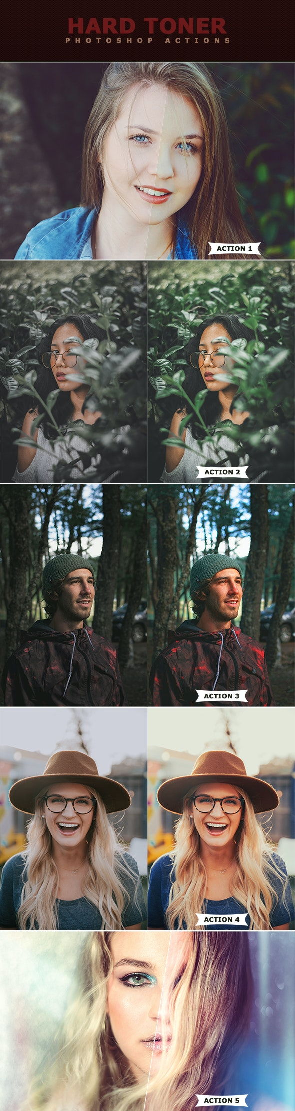 HArd Toner Photoshop Actions - Photo Effects Actions