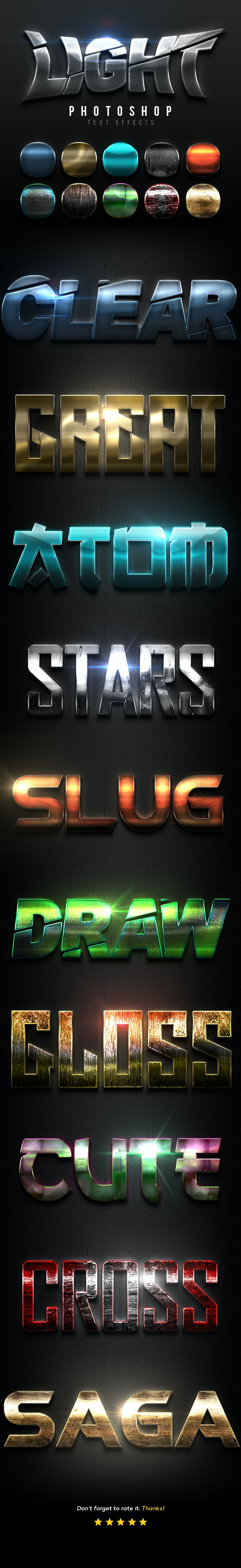 Light Text Effects Vol.10 - Text Effects Actions