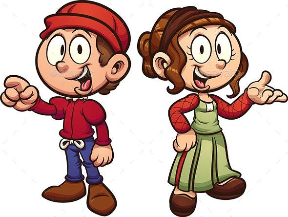 Medieval Kids - People Characters