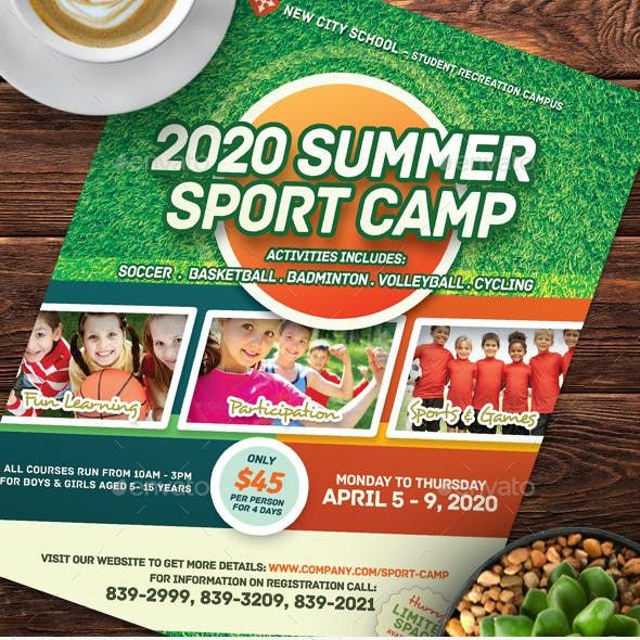Sport or Adventure Camp Flyers