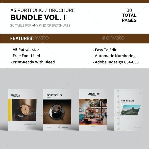 A5 Portfolio / Brochure Bundle Vol. 1