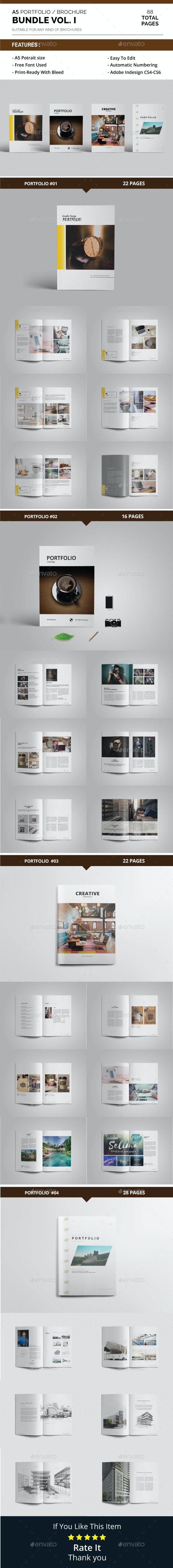 A5 Portfolio / Brochure Bundle Vol. 1 - Portfolio Brochures
