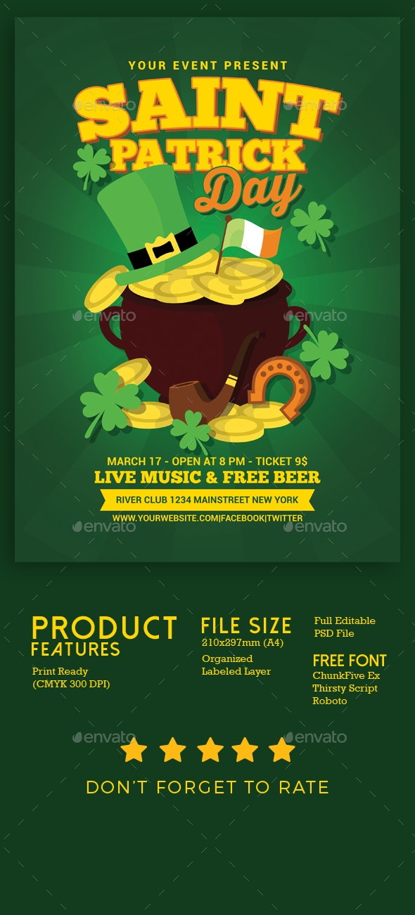 St Patrick Day - Events Flyers