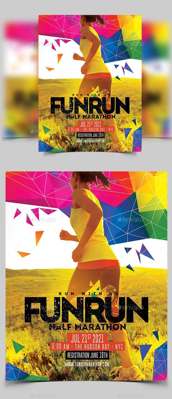 Marathon Flyer - Sports Events