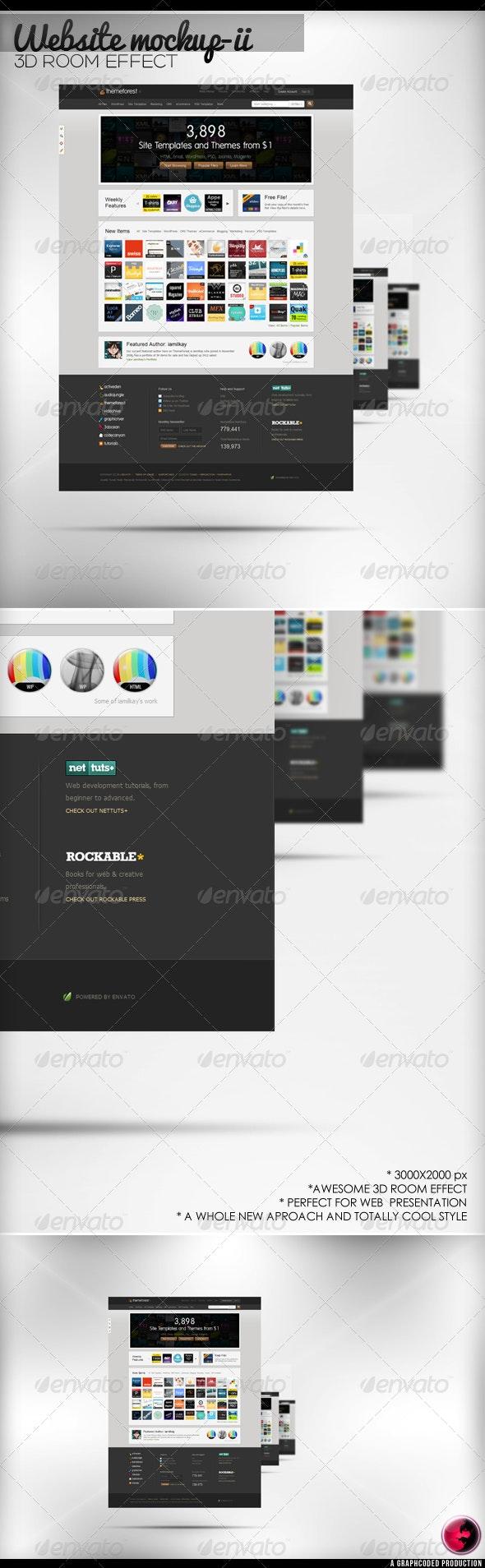 3D Room WEB Mock-Up Version-II - Website Displays