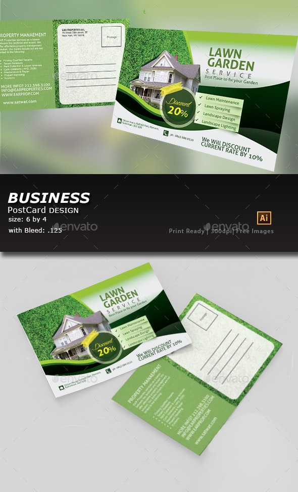 Lawn, Garden, & Landscaping template - Cards & Invites Print Templates