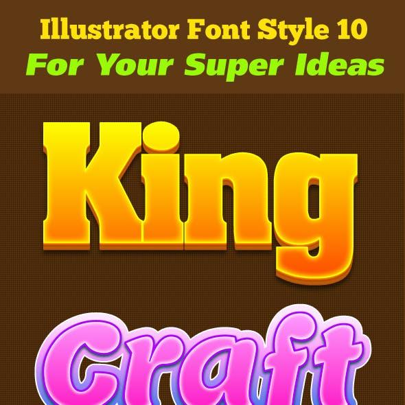 Illustrator Font Style 10