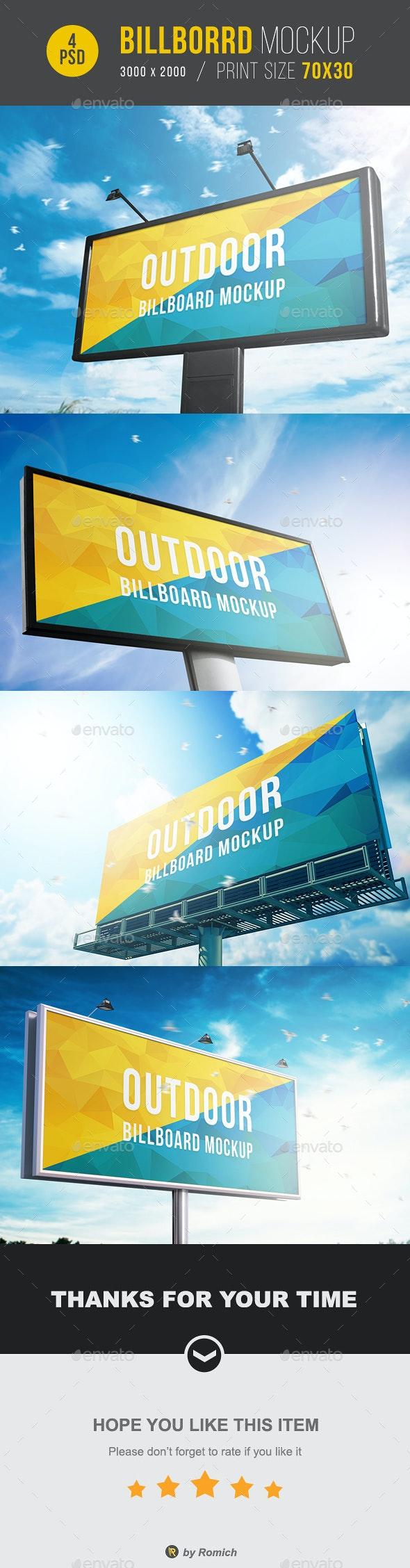 Outdoor Billboard Mockup - Signage Print