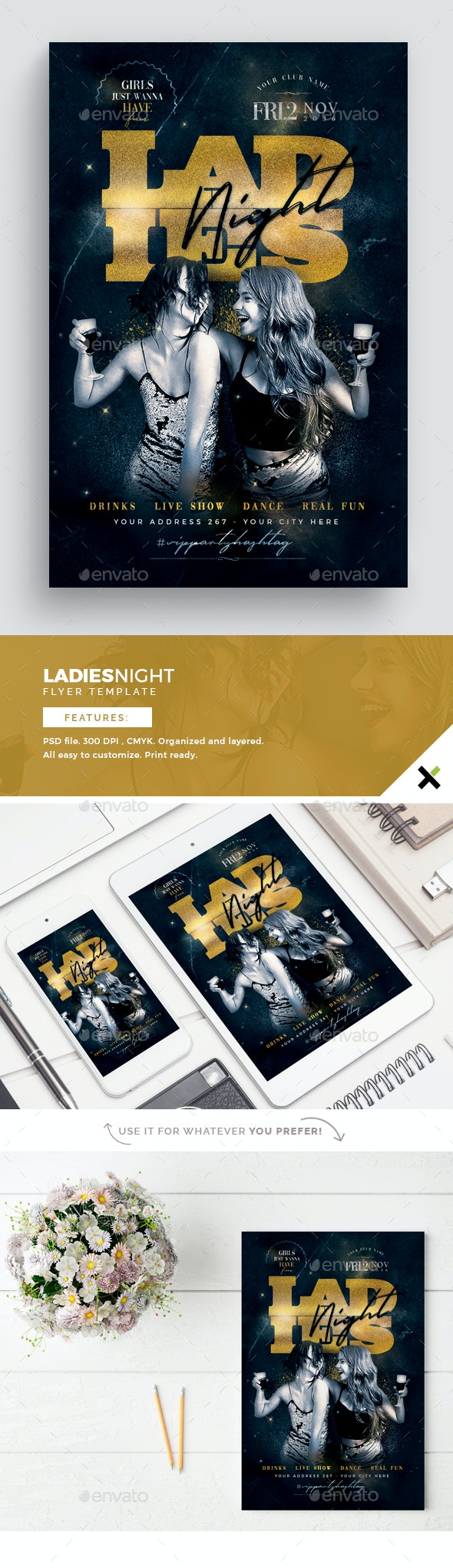 Ladies Night Flyer Template - Flyers Print Templates