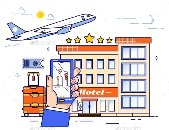 Online Booking of Plane Tickets and Hotel