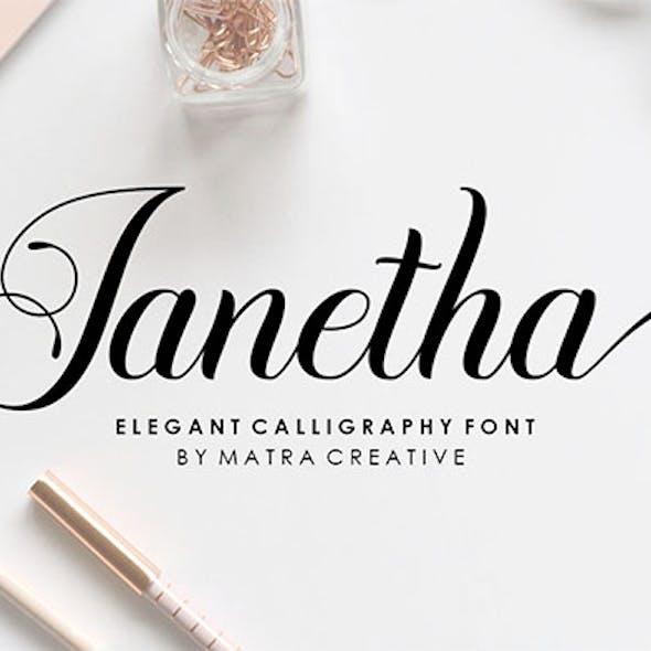 Janetha Script