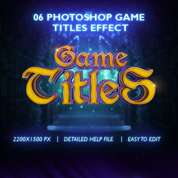 Games Titles Photoshop Text Effect