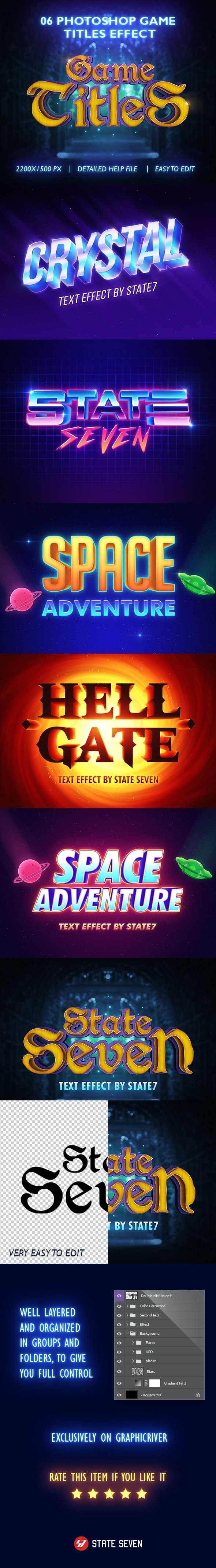 Games Titles Photoshop Text Effect - Text Effects Styles