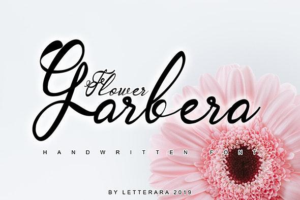 Garbera Flower - Hand-writing Script