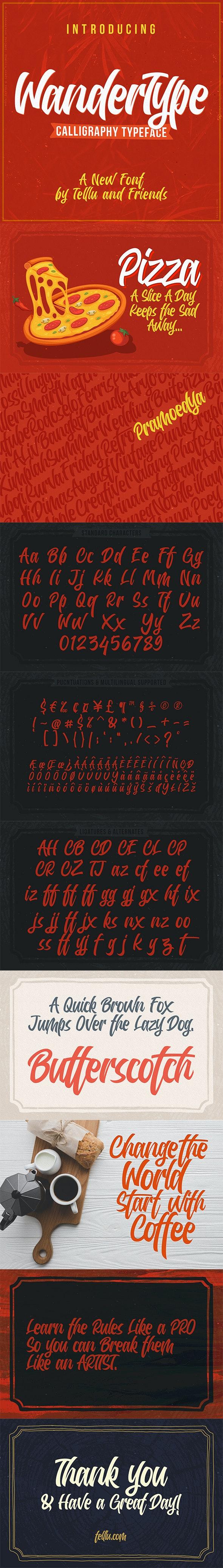 WanderType - Fancy Fonts