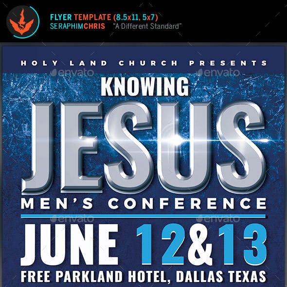 Knowing Jesus Men's Conference Flyer Template