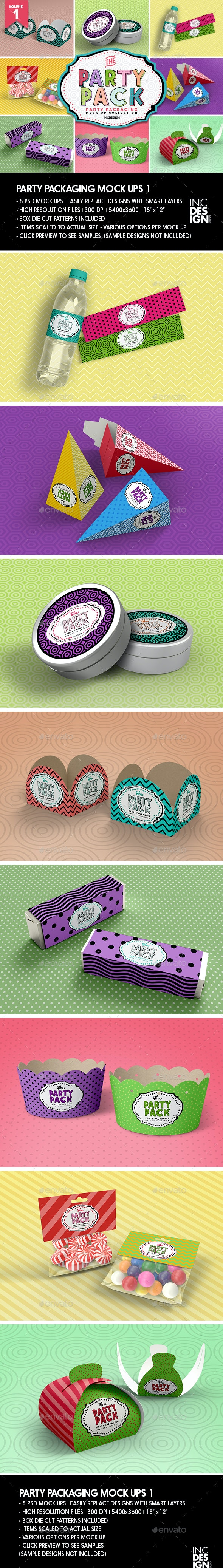 The Party Pack Packaging Mock Ups 1 - Packaging Product Mock-Ups