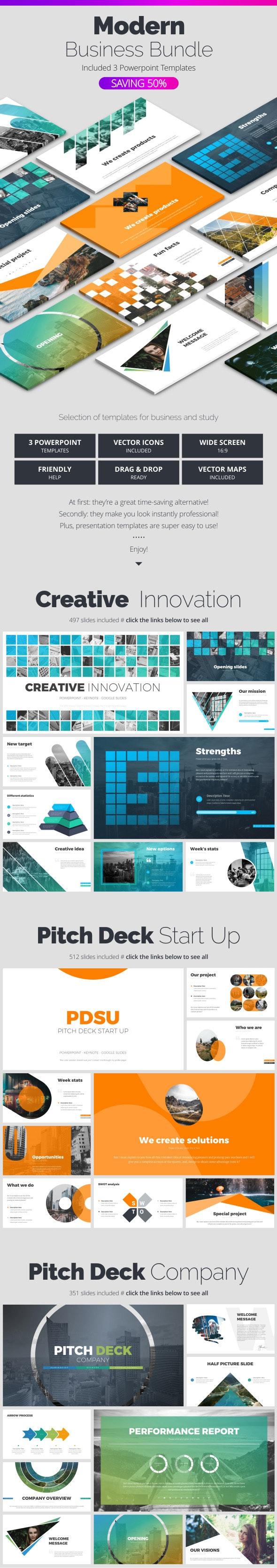 Modern Bundle - Business PowerPoint Templates