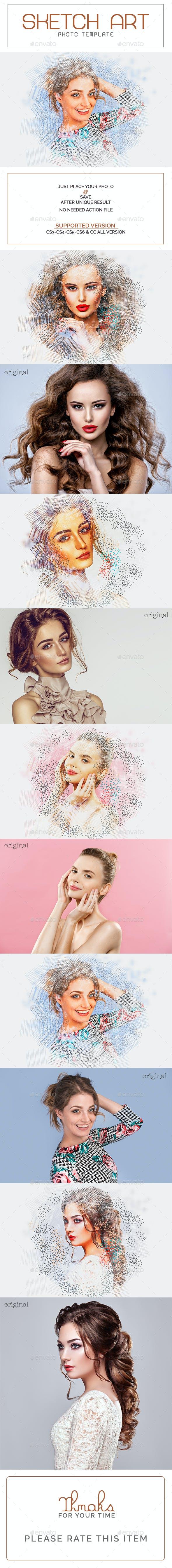 Sketch Art Photo Template - Photo Templates Graphics