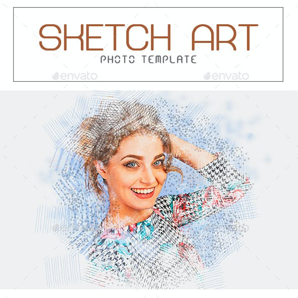 Sketch Art Photo Template