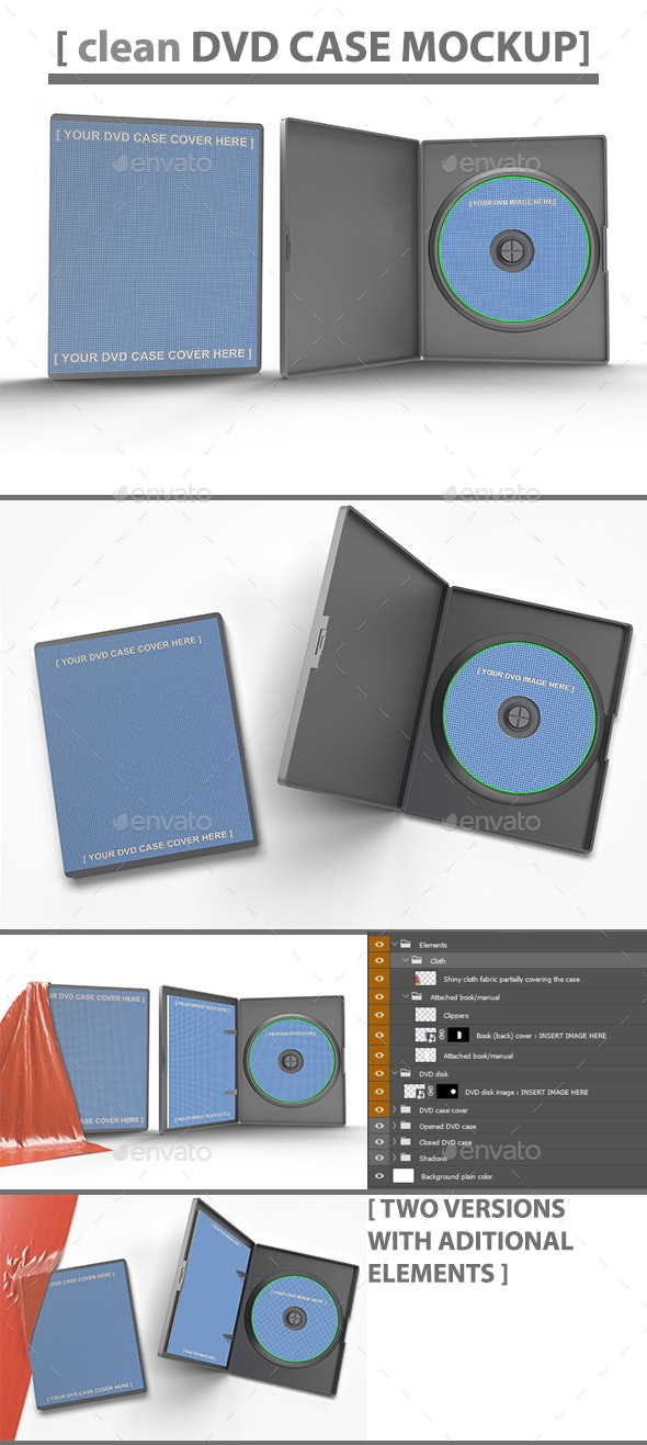 Custom Size DVD Case Mock-Up - Discs Packaging