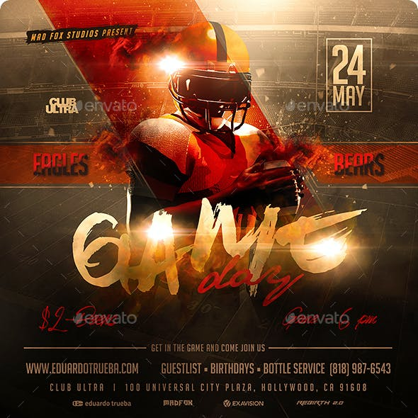 Football Game Day Sports Flyer