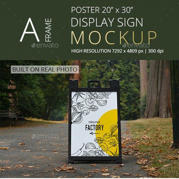 A-Frame Poster Display Sign Mockup/ Vol 2.0