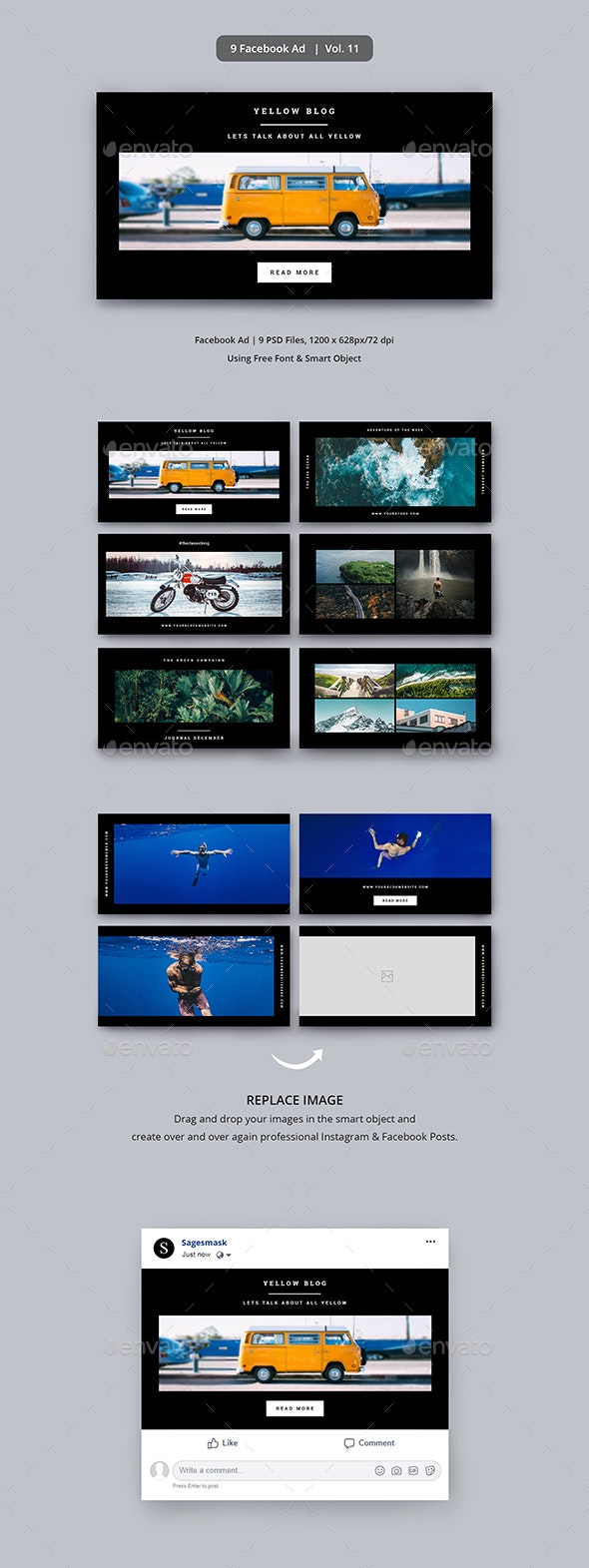 Facebook Ad Vol. 11 - Facebook Timeline Covers Social Media